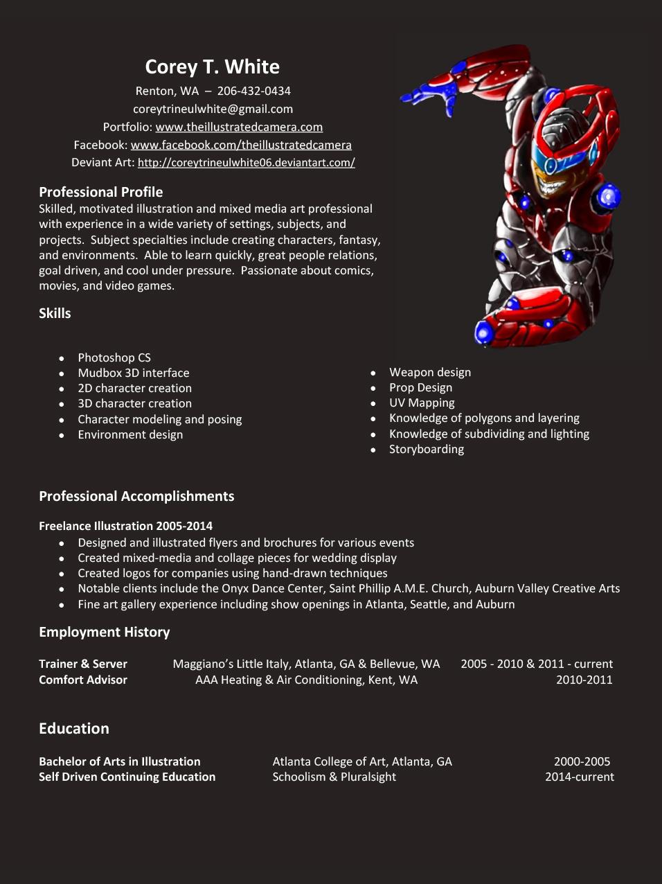 resume corey white